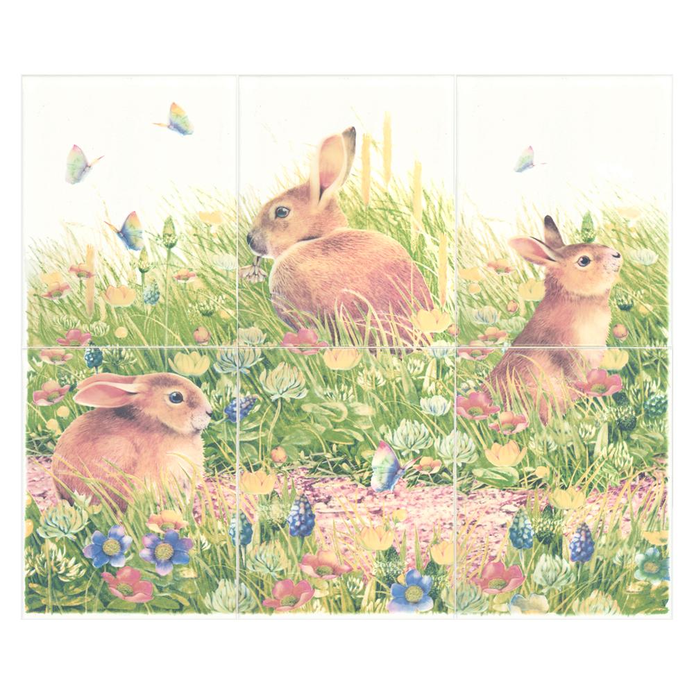 กระเบื้อง 8x10 in.<br>กระต่ายป่า 3P/6P